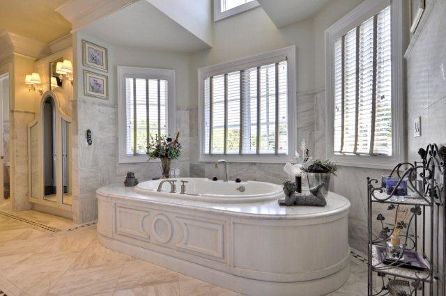 Custom Master Bath Wood Tub Surround
