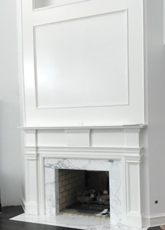 Custom Wood Fireplace Surround