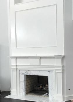 Custom Wood Fireplace Surround