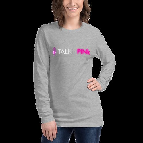 TALKinPINk logo Long Sleeve Tee