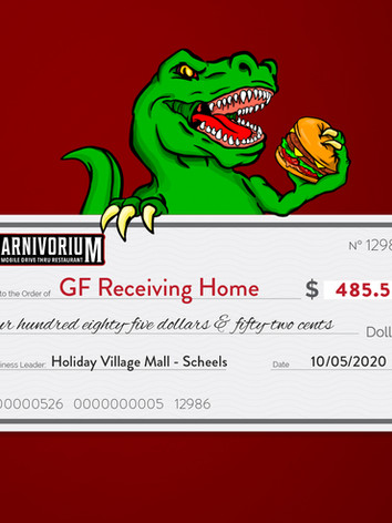 Holiday Village Mall charity of choice GF Receiving Home