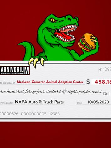 NAPA charity of choice MacLean Cameron Animal Adoption Center