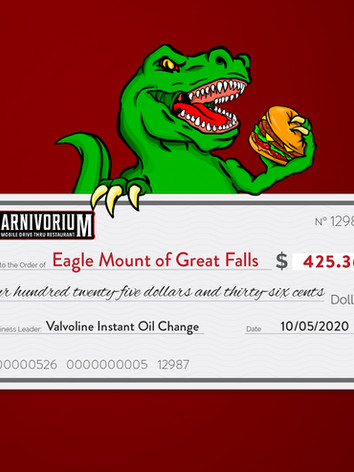 Valvoline charity of choice Eagle mount of Great Falls