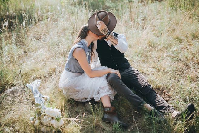 boho rustic couple