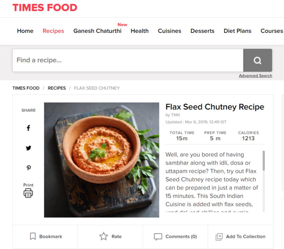 flax seed chutney recipe