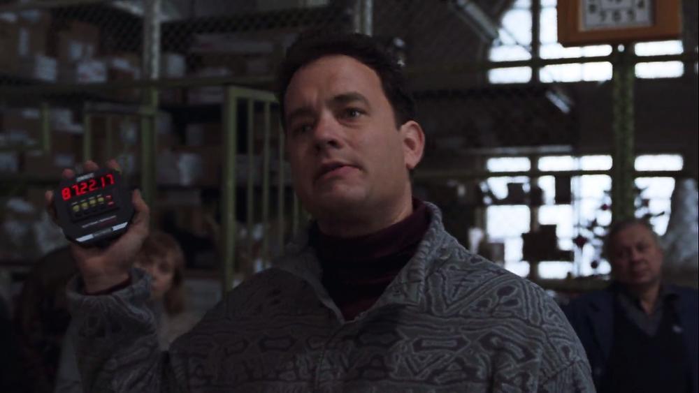 Cast Away Tom Hanks Chuck Noland talks to FedEx employees