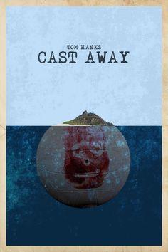 Cast Away move poster minimal