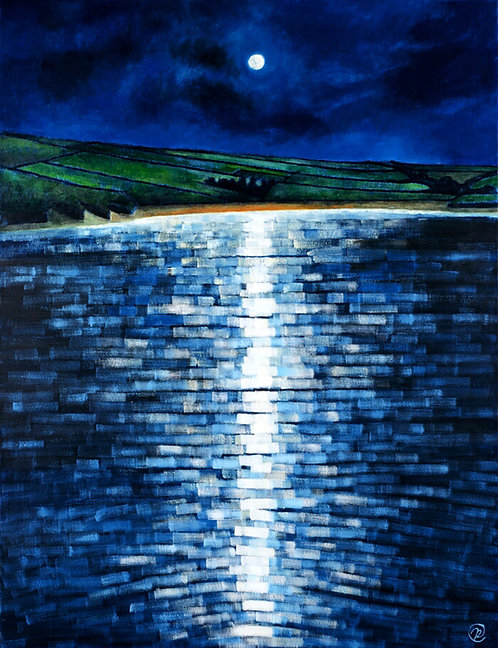Moonlight on the Camel Estuary