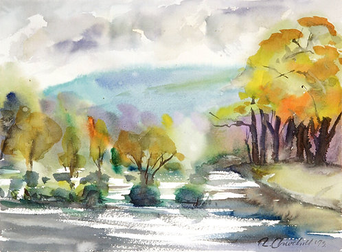 River Wye in Autumn, Powys I