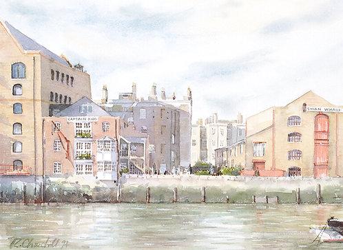 Captain Kidd Pub & Swan Wharf, Wapping