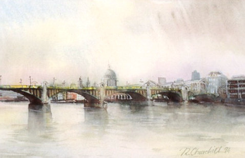 Southwark Bridge and St. Paul's Cathedral