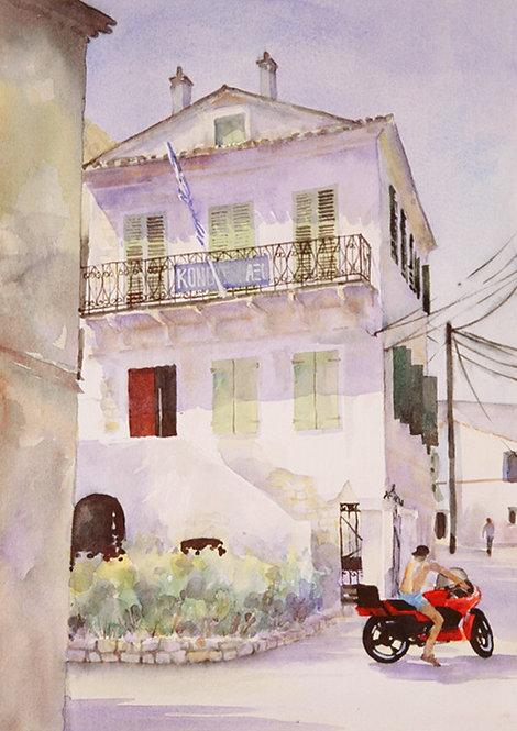 Motorbike, Corfu Town