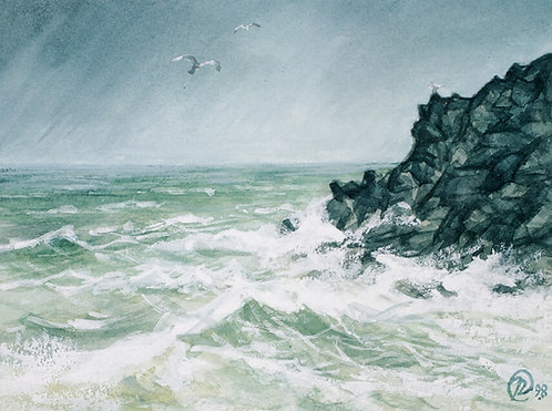 Rocks and Waves, St. Agnes