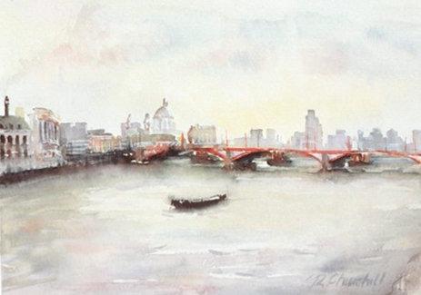 Blackfriars Bridge and The City