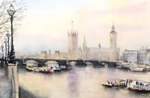 Westminster Bridge and Palace