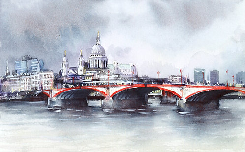 Blackfriars Bridge and St. Paul's Cathedral