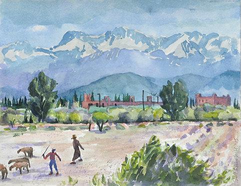 Atlas Mountain View with Shepherds