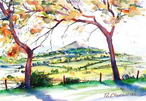 The Garth through Autumn Trees, Powys