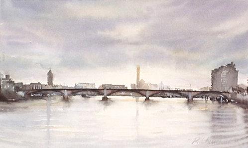 Battersea Bridge toward Chelsea