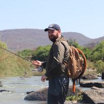 Fishing at Zingela