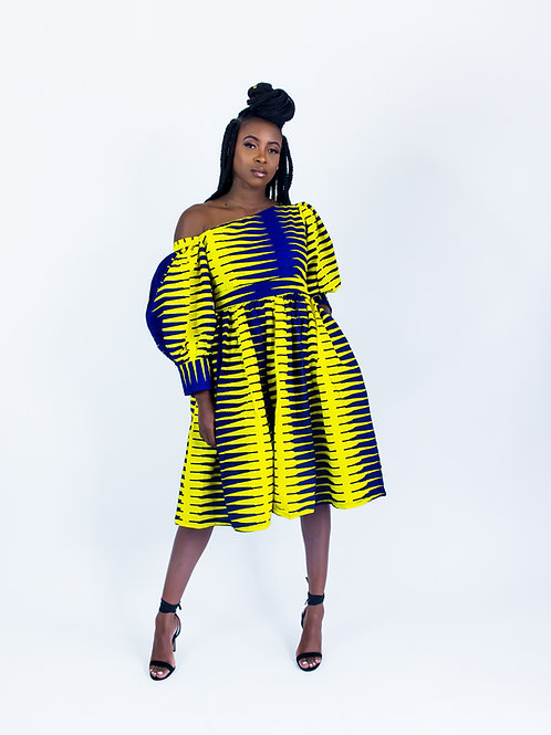 AfroTrend Purple Gallinule Dress