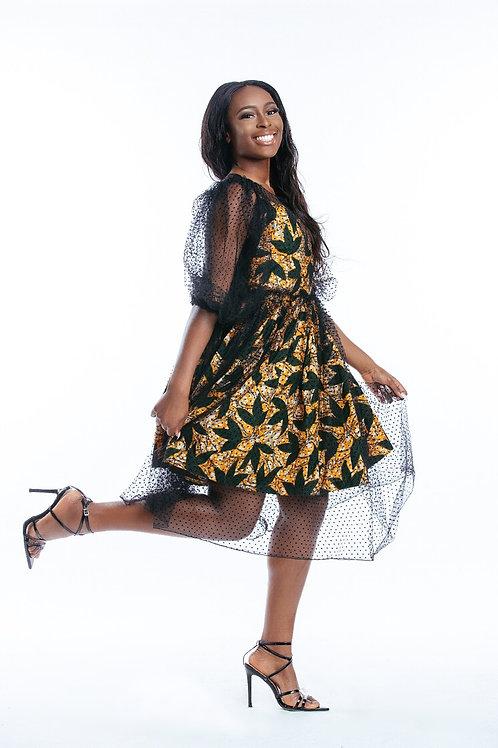 Mesh Two Piece Dress