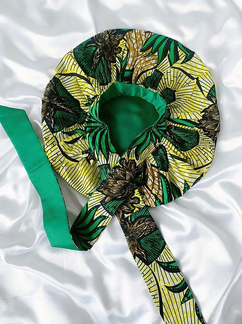 Greenjay Satin Tie Bonnet