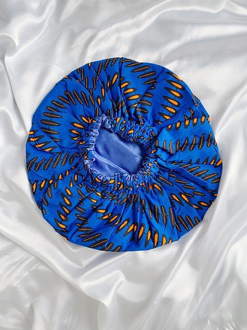 Eastern Blue Satin Bonnet