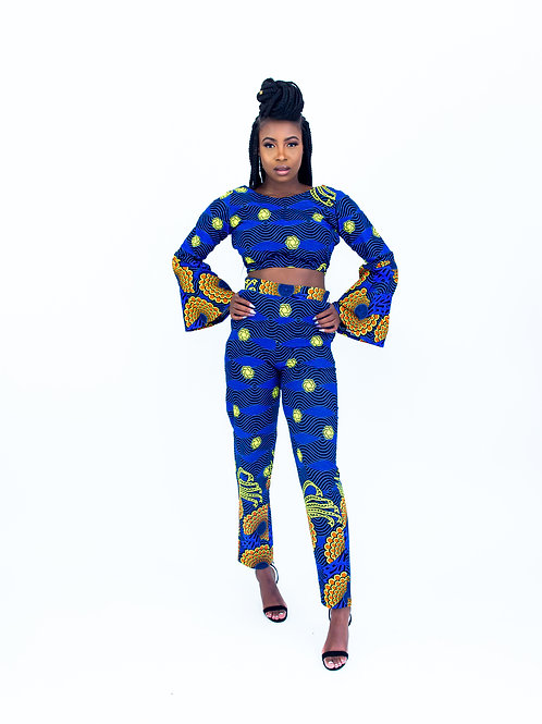 AfroTrend Blue Bunting Trouser