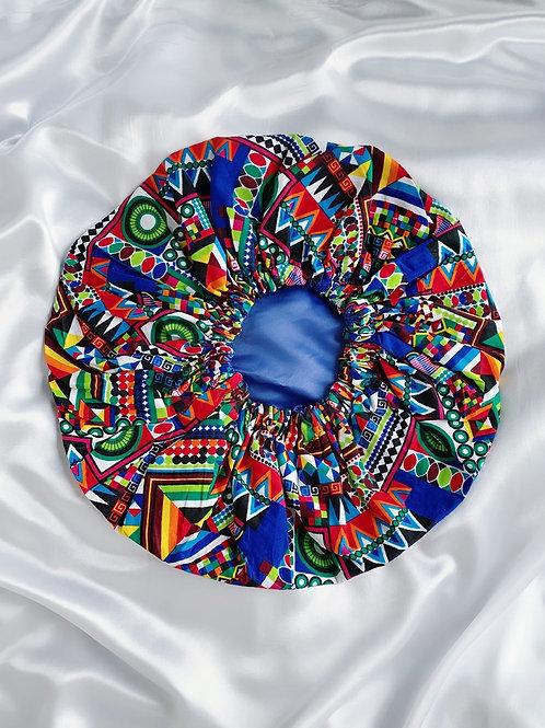 Kids Tropical Blue Satin Bonnet