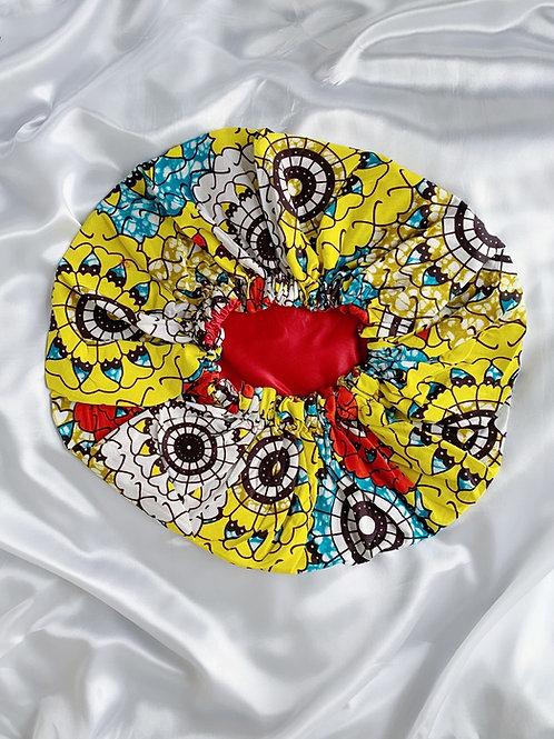 Golden Pheasant Satin Bonnet