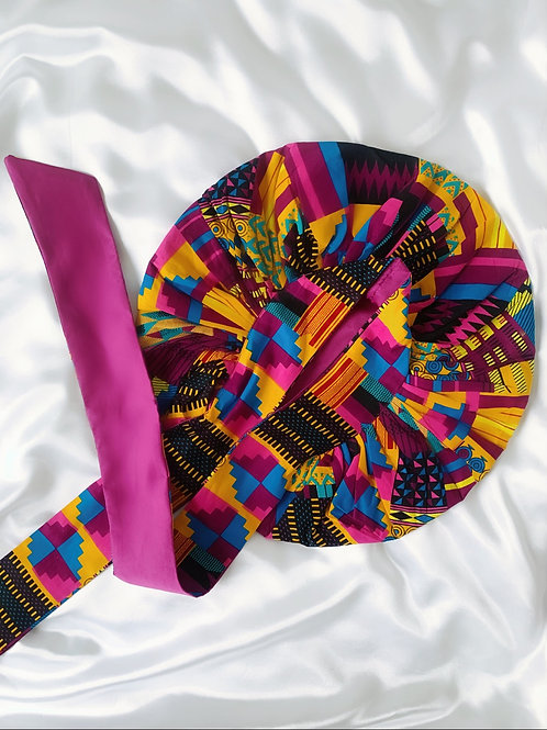 Toucan Satin Tie Bonnet