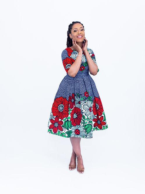 AfroTrend Gardenia Dress