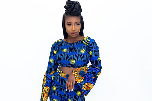AfroTrend Blue Bunting Top
