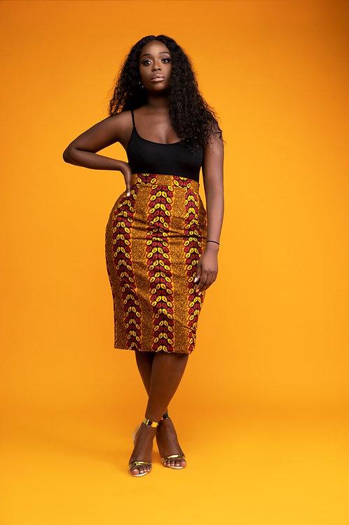 AfroTrend High Waist Pencil Skirt
