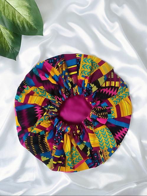 Toucan Satin Bonnet