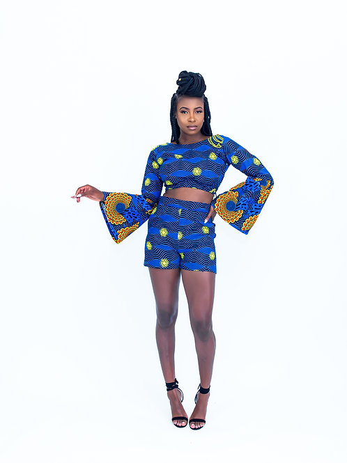 AfroTrend Blue Bunting Short