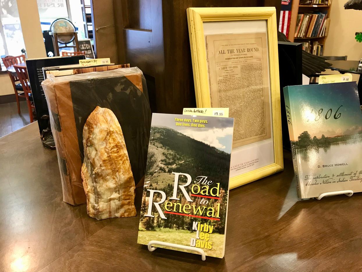 Books displayed at McHuston's