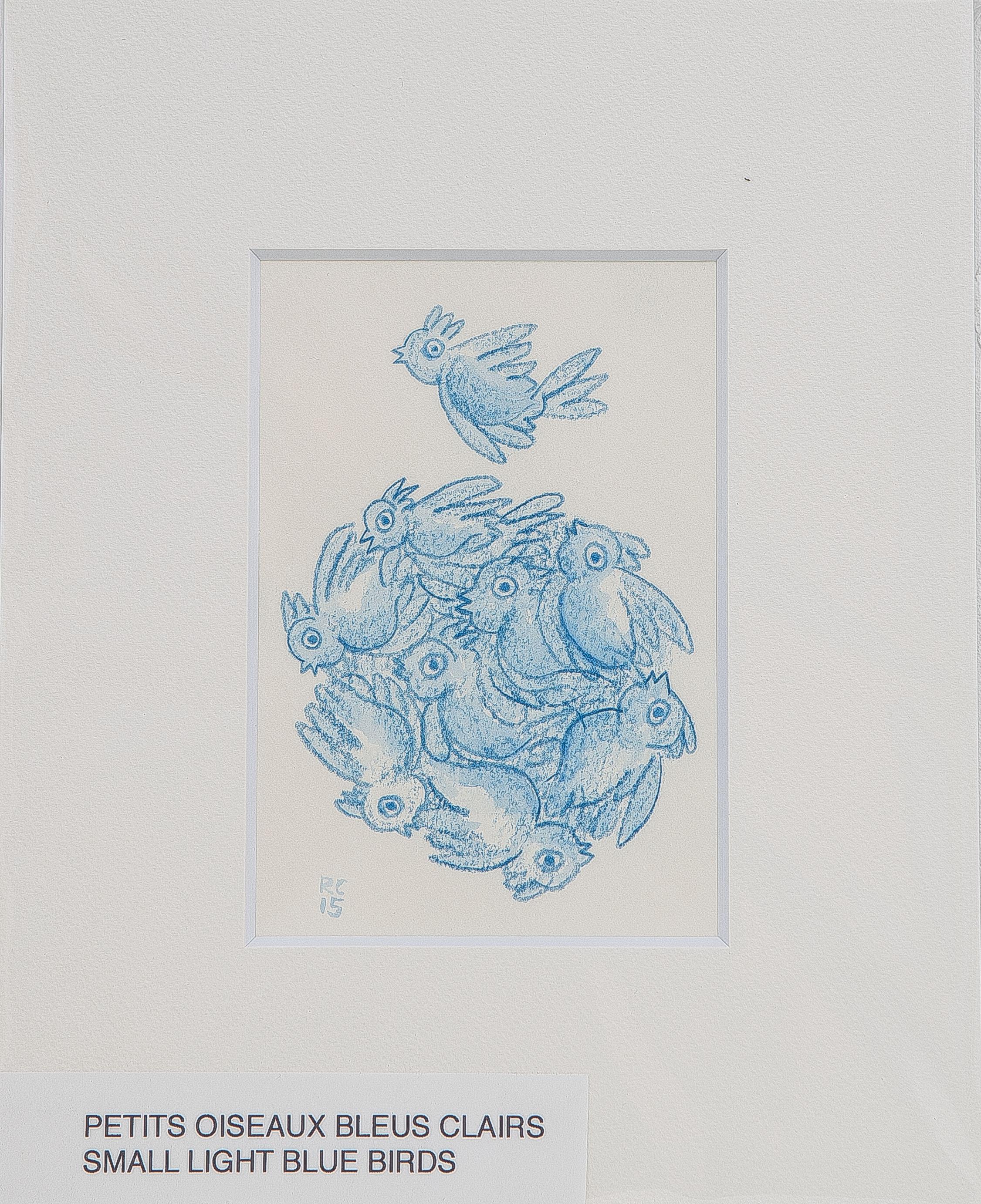 ROUND BLUE BIRD