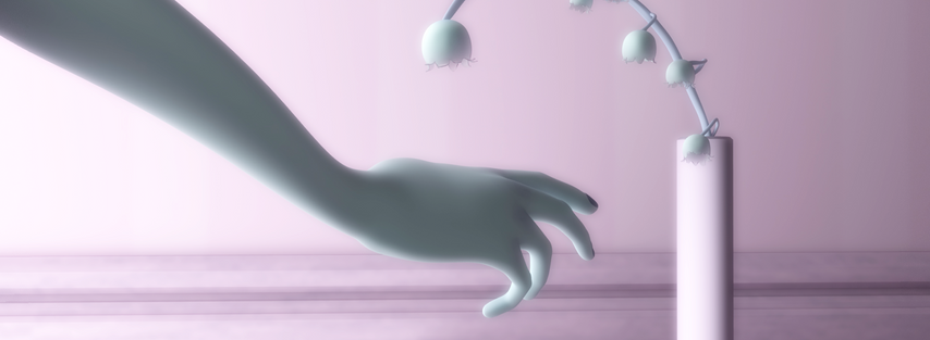 """This is a shot from my short film, """"Suspend."""" It showcases my interest in conveying emotion through the simplest of movements. It takes on a minimalist approach even in the environment surrounding the animation."""