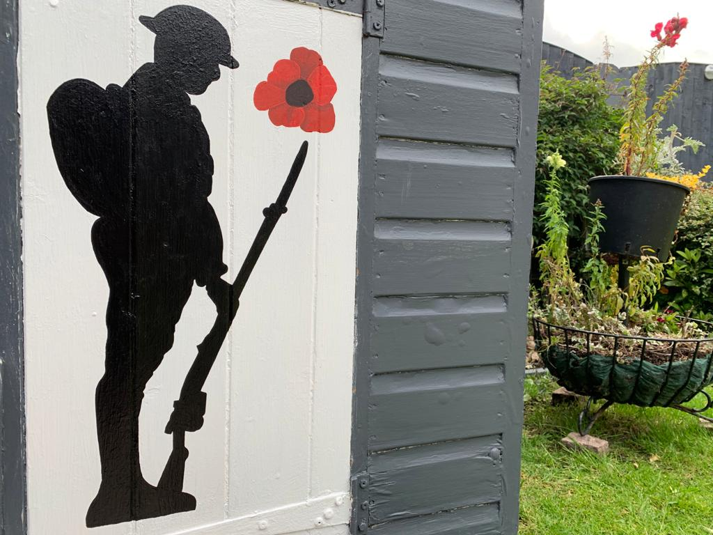 Poppy and Soldier wall art.