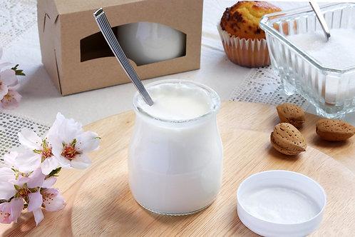 Yogur natural. Pack de 2 tarritos con 125gr cada uno. Peso total 485gr