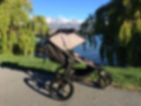 Baby Jogger Summit X3 stroller by Lake Wakatipu Queenstown and the Remarkables New Zealand