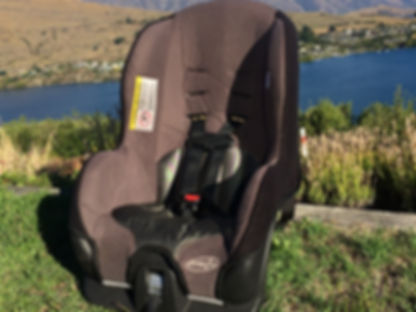 Evenflo Tribute car seat child restraint by Lake Wakatipu Queenstown New Zealand