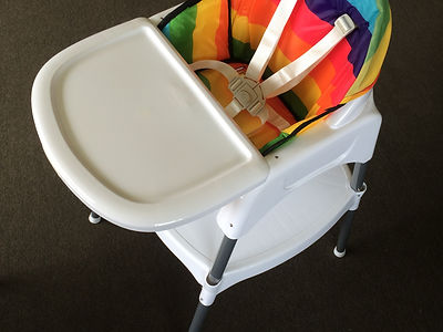 Infasecure Dino rainbow high chair in Queenstown airbnb