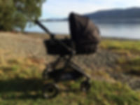 Evenflo Travel System stroller by Lake Te Anau New Zealand