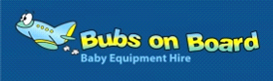 Bubs On Board Tasmania Australia logo with airplane in colours blue and yellow