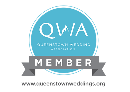 Queenstown Wedding Association logo New Zealand in the colour blue