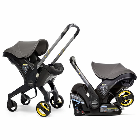 Doona infant car seat which converts into a stroller with easy base