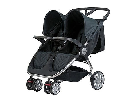 Britax Steelcraft twin stroller in black